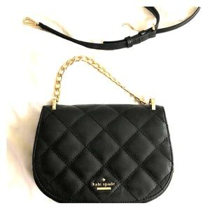 Kate Spade quilted leather black cross body bag
